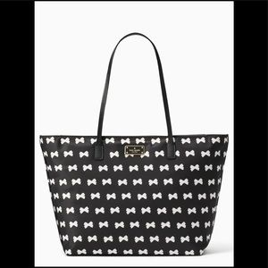 KATE SPADE Blake Avenue MARGARETA Bow Black Tote.